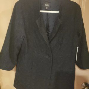 Eileen Fisher Embroidered Wool Gauze Blazer